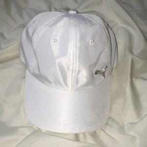 White puma hat